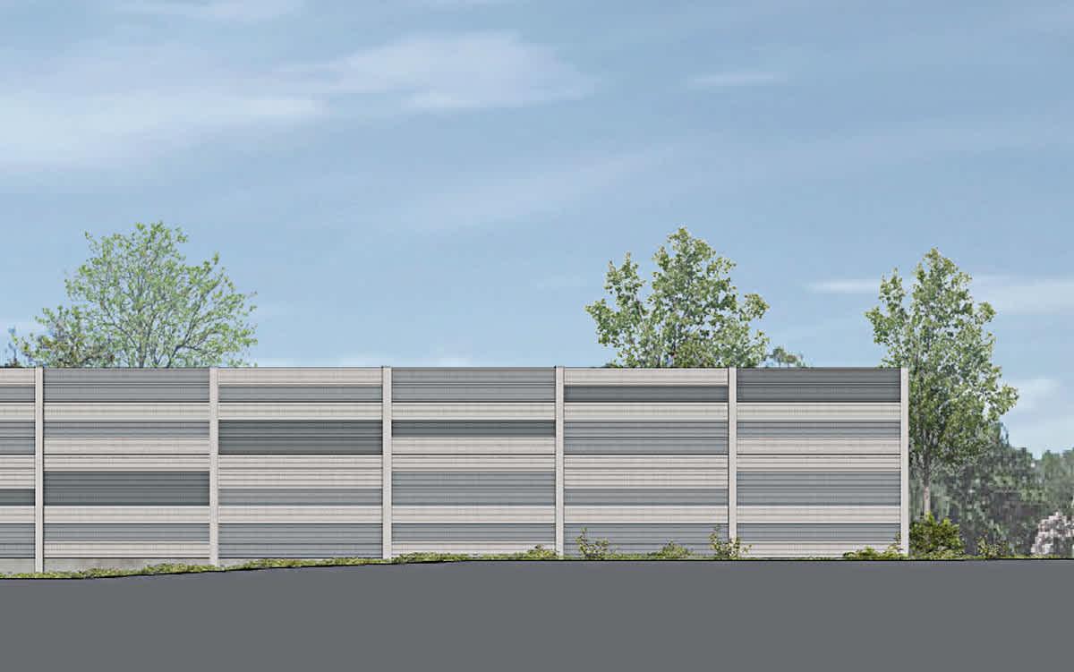 Projekt Neubau der Lärmschutzwand an der B42, Koblenz-Horchheim