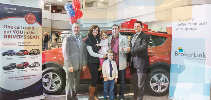 BrokerLink customer wins 2015 Toyota RAV4 in Selec...
