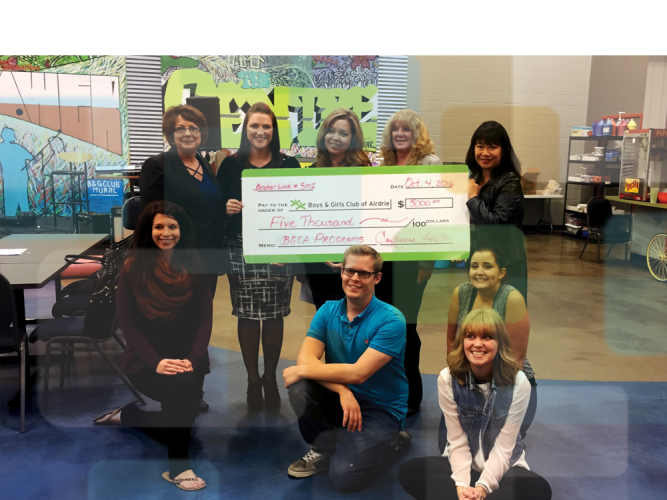 Airdrie branch supports Boys & Girls Club with $5,...