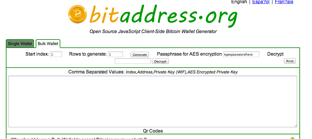 Creating a Bitcoin Paper Wallet