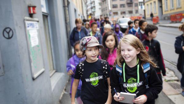 Miljøagentene - Artikkel - Gå-til-skole-aksjon