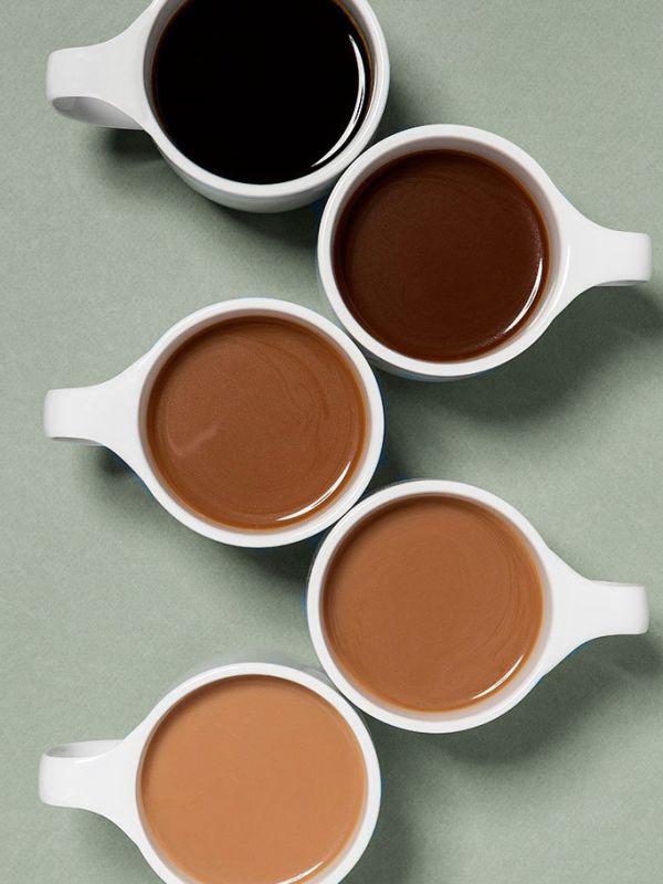 Service-avtalen - Artikkel - forskjellige kopper kaffe