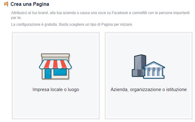 Aprire una pagina su facebook