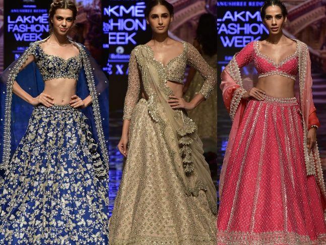 "Dazzlerr: ""The Blockbuster Bride"" Collection Launched by Anushree Reddy And Arpita Mehta At Lakmé Fashion Week 2019"