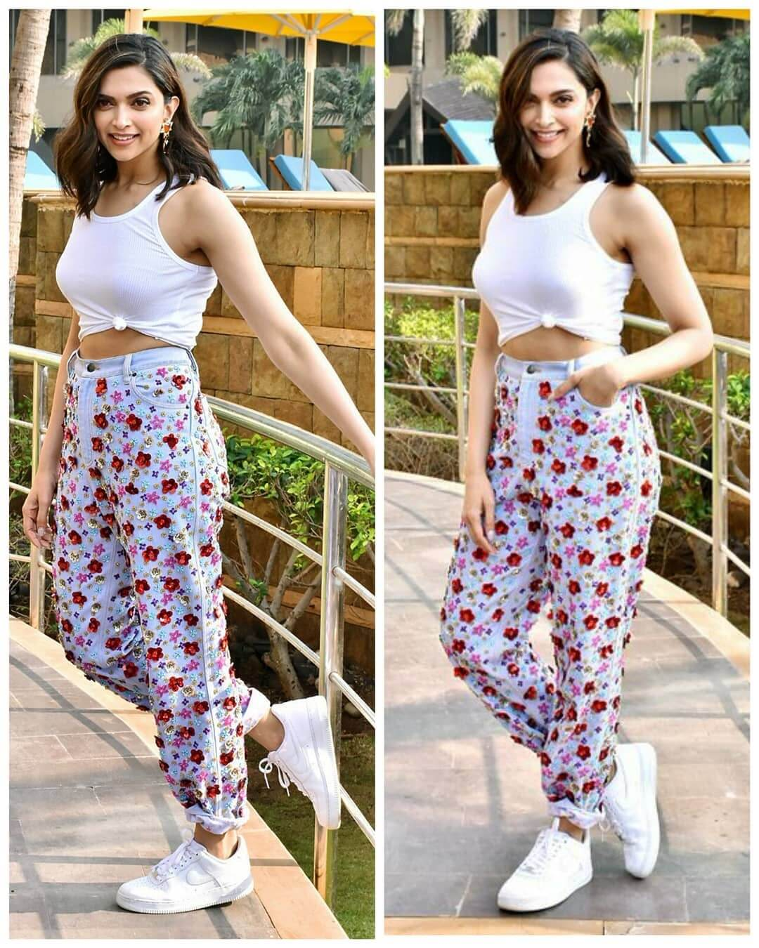 Dazzlerr - Deepika's Unconventional Denim Fits Best in The Spring Season