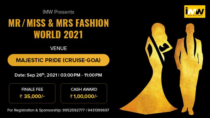 Dazzlerr :: MR MISS & MRS FASHION WORLD 2021