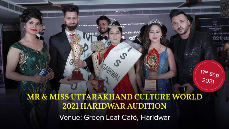 Dazzlerr :: MR & MISS UTTARAKHAND CULTURE WORLD 2021 Haridwar Audition