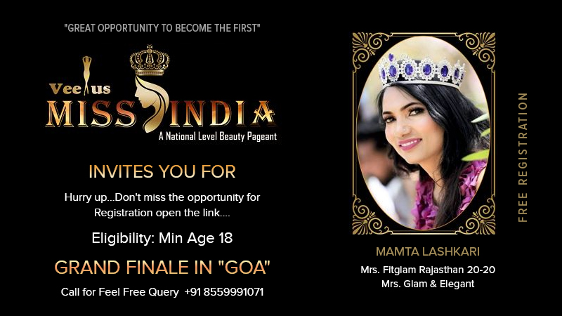Dazzlerr :: Veenus Miss India- A National Level Beauty Pageant