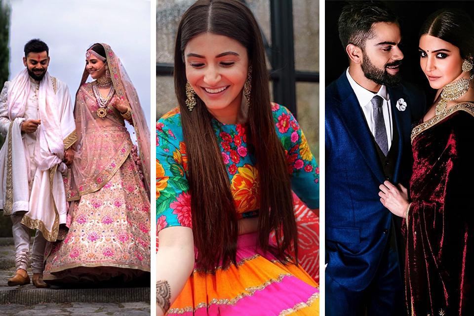 Dazzlerr - Flashback- A look at the Anushka Sharma's Wedding Outfits
