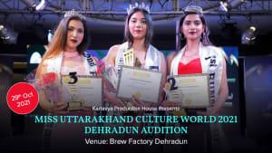 Dazzlerr :: MISS UTTARAKHAND CULTURE WORLD 2021 DEHRADUN Audition