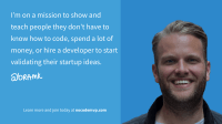 No-Code MVP | Build and validate startup ideas without code