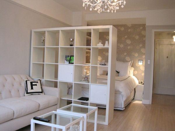 Wohn und Schlafzimmer in Einem Raum