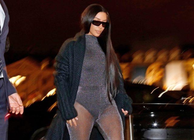 Ким Кардашьян сходила на ужин в Париже