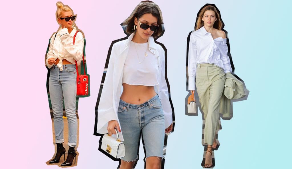 Как носить белую рубашку? Стильные образы для девушек на PEOPLETALK