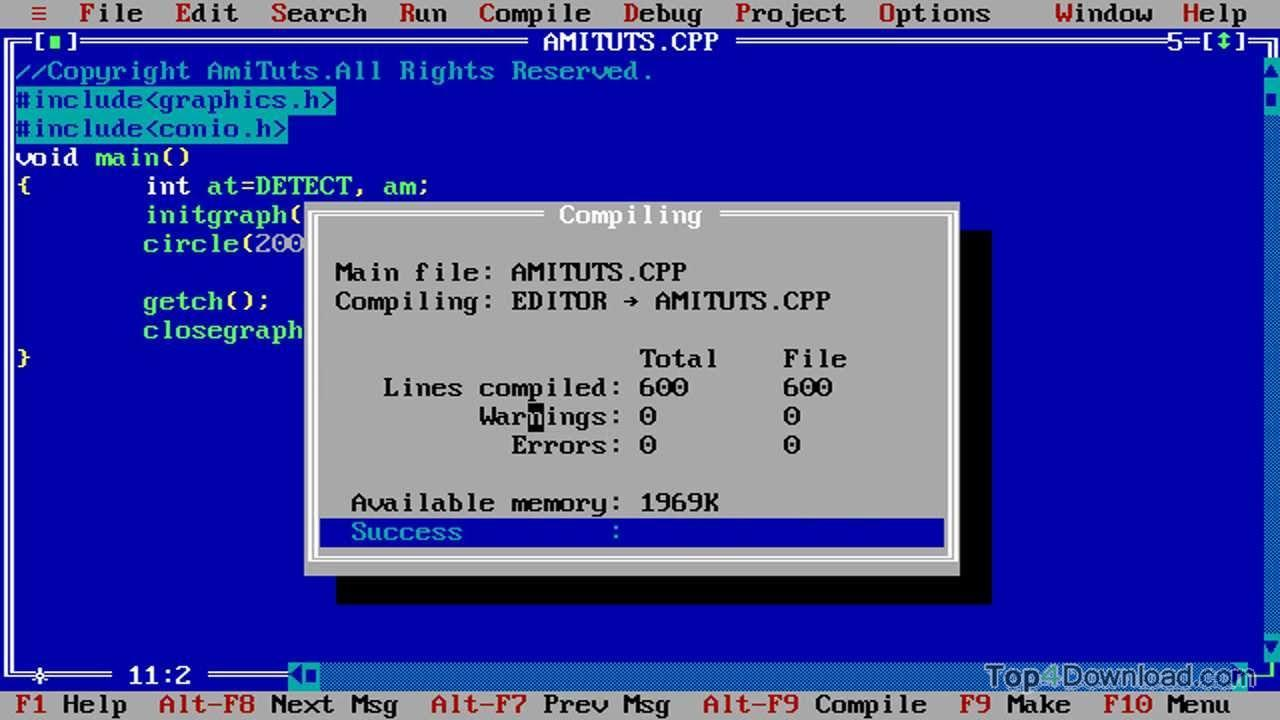 Turbo C++ screenshot