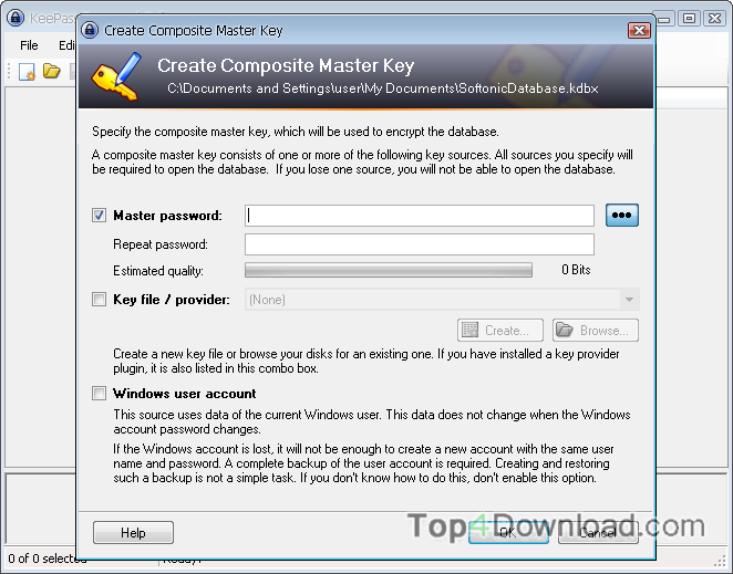 Portable KeePass Password Safe screenshot