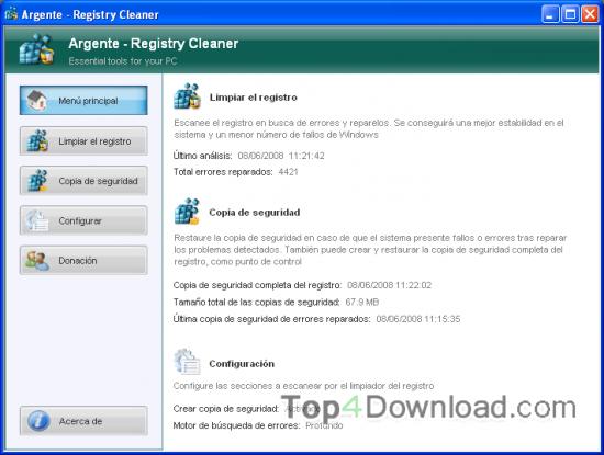 Argente - Registry Cleaner screenshot