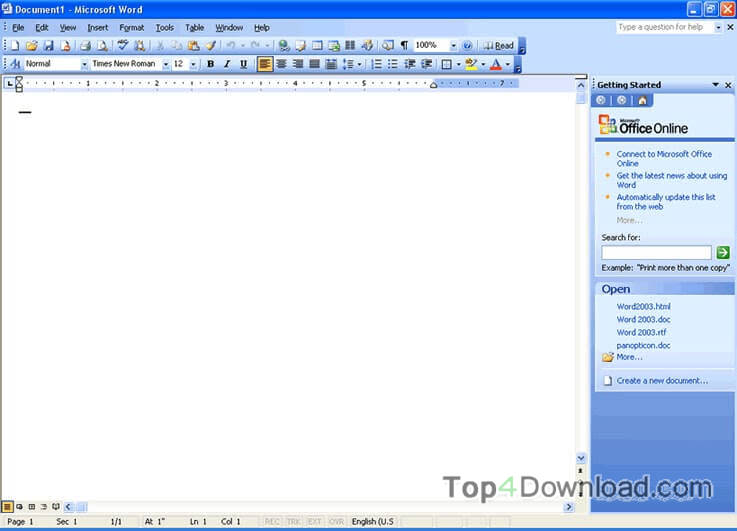 Microsoft Office 2003 screenshot