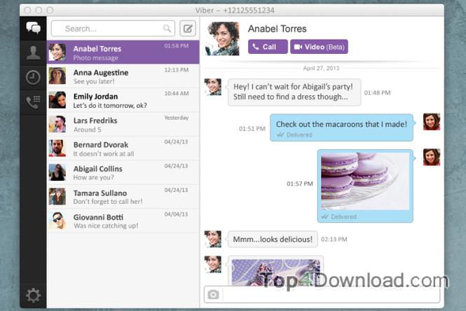 Viber for Mac screenshot