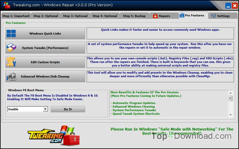 Tweaking.com - Windows Repair Portable screenshot