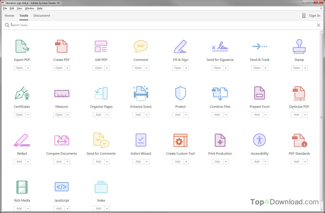 Adobe Acrobat Reader screenshot