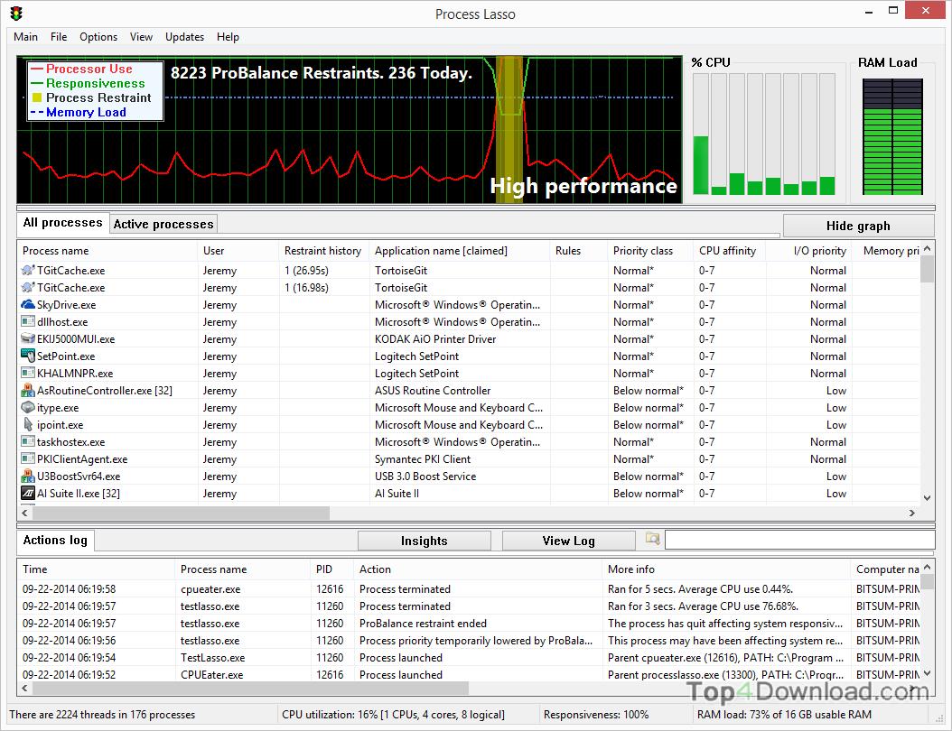 Process Lasso Server x64 screenshot