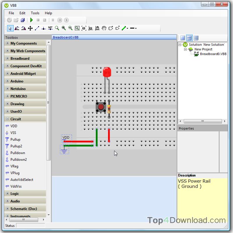 VirtualBreadboard screenshot