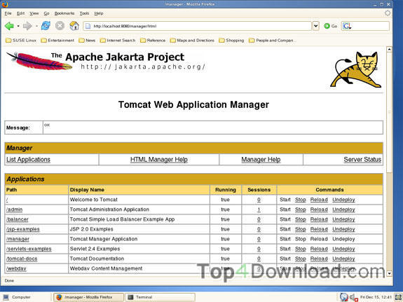 Apache Tomcat x64 screenshot