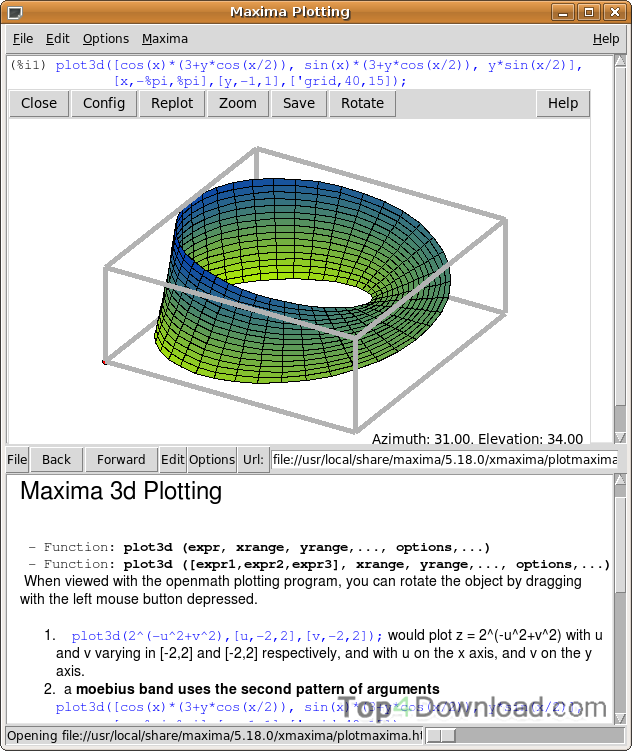 Maxima for Mac and Linux screenshot