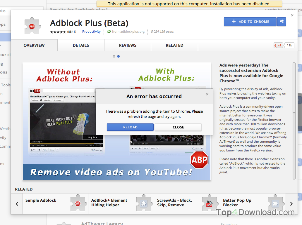 Adblock for Chrome screenshot