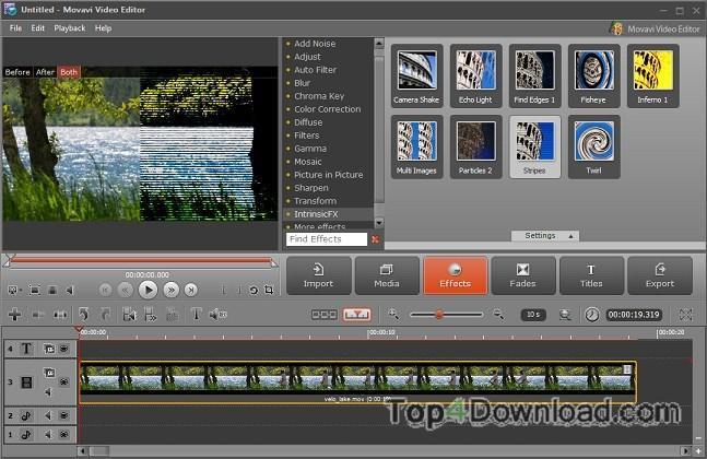 Movavi Video Editor screenshot