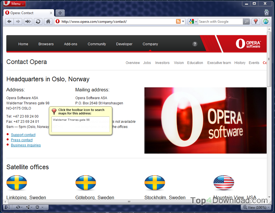 Opera screenshot