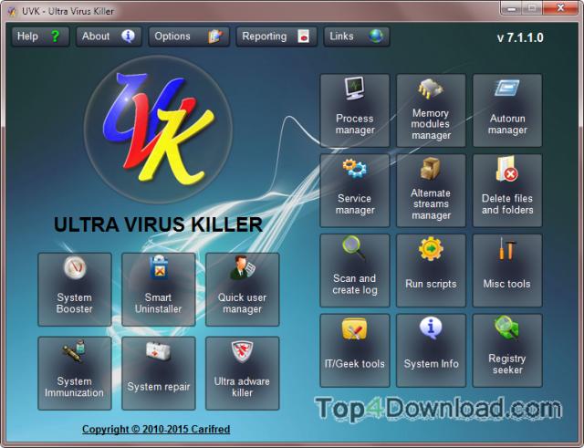 UVK - Ultra Virus Killer screenshot