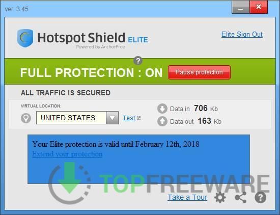 Hotspot Shield - Top Freeware