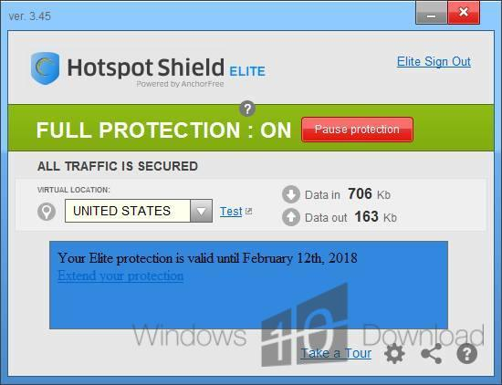 download hotspot shield windows 10 free