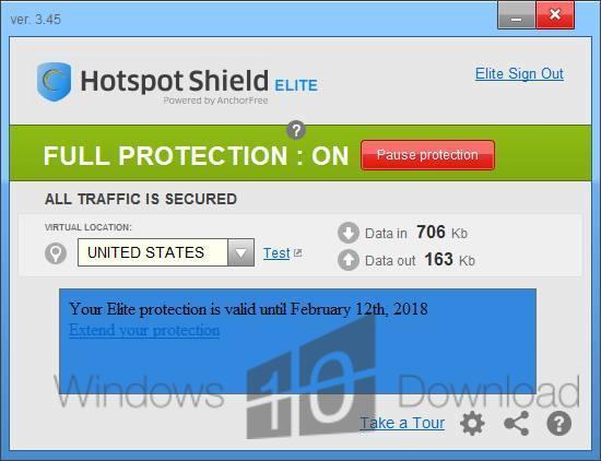 hotspot shield free  windows 7 32 bit latest version