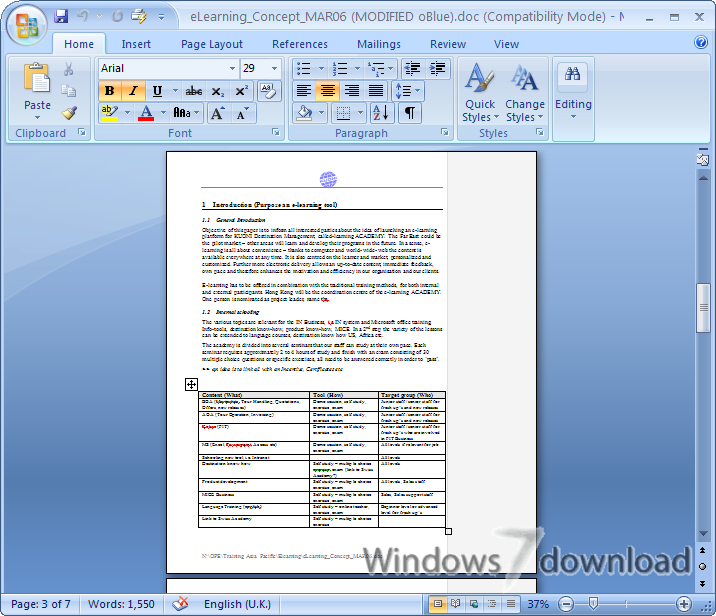 Microsoft Office 2007 for Windows 7 - Try Office Professional 2007