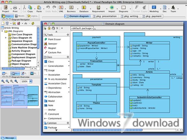visual paradigm for uml standard edition screenshot - Download Uml Diagram Tool