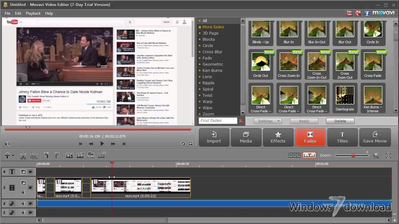 Video editor free windows 7