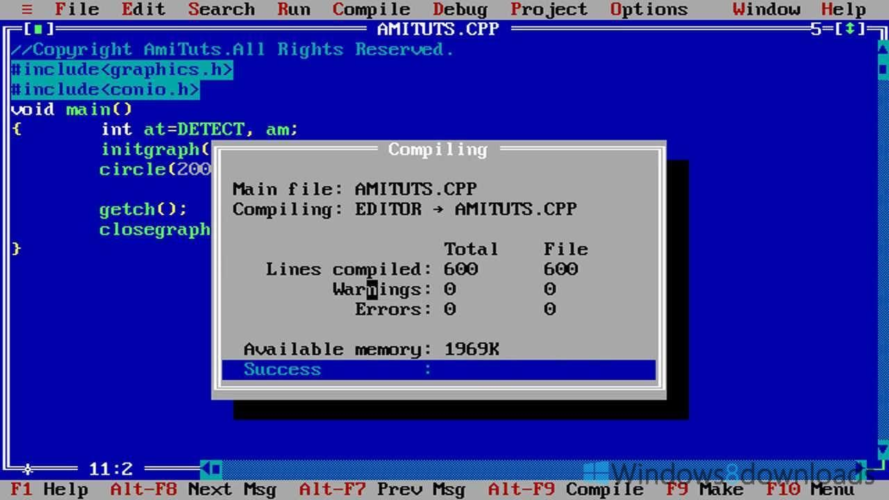 turbo c++ software free download for windows 8