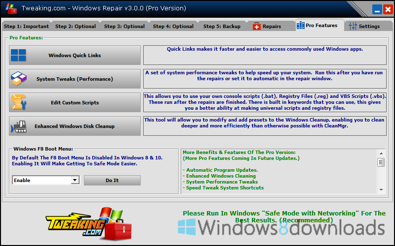 Tweaking.com - Windows Repair Portable - Windows 8 Downloads