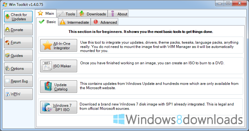 Win Toolkit - Windows 8 Downloads
