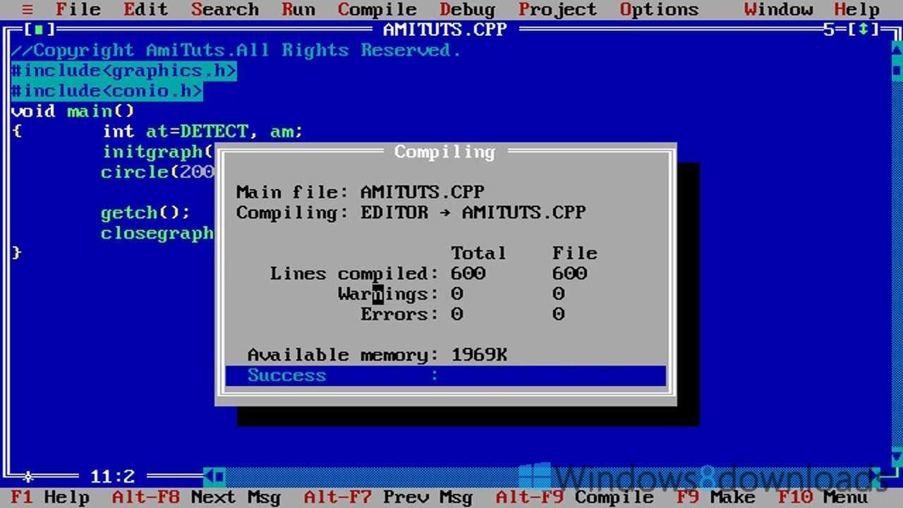 Turbo C Windows 8 Downloads