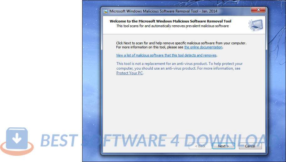 Windows Malicious Software Removal Tool - 64 bit 5.85 full