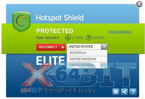 Hotspot Shield screenshot