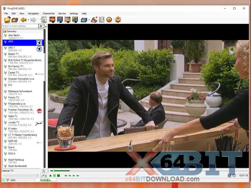 ProgDVB Professional x64 screenshot