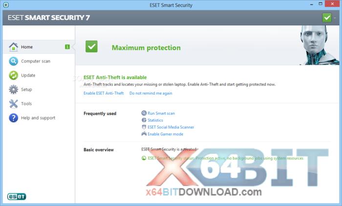 ESET Smart Security (64 bit) screenshot