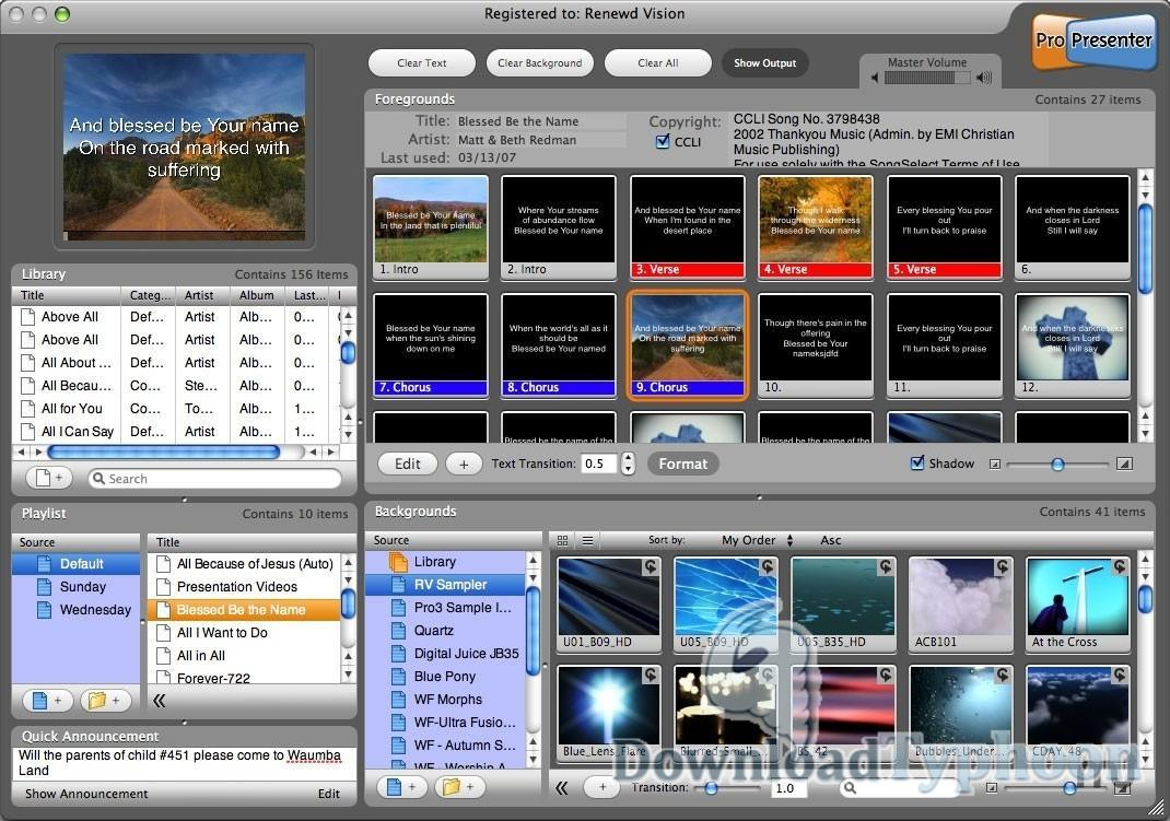 ProPresenter for Mac OS X full screenshot