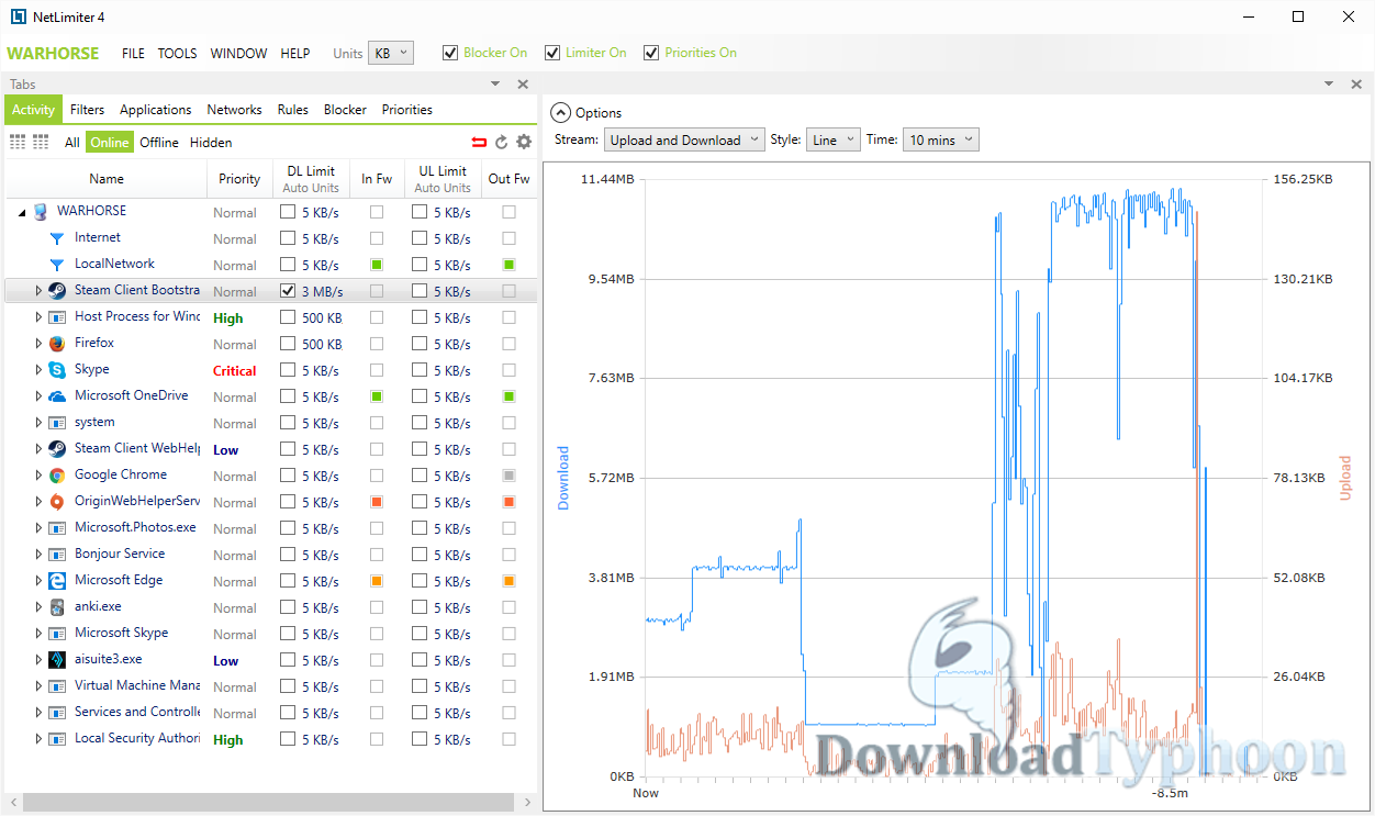 NetLimiter Pro full screenshot