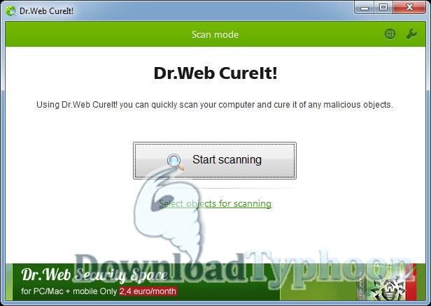 Dr.Web CureIt! full screenshot